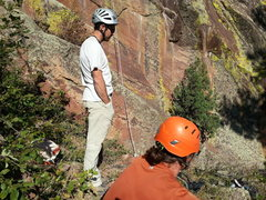 Rock Climbing Photo: Chris Weidner and Ian King taking a well deserved ...