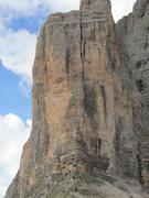 Rock Climbing Photo: Cima Picolissima di Laverado from Forcella di Lave...