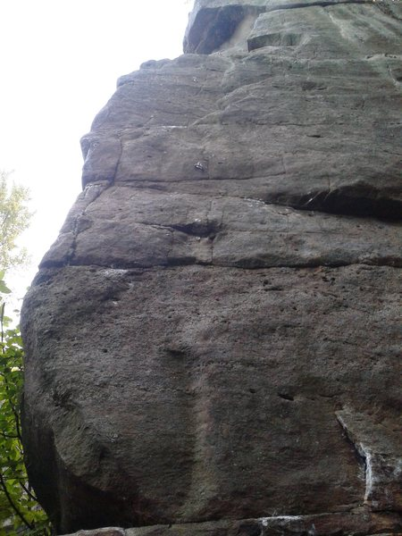 Rock Climbing Photo: Walking Wounded goes up on the far left side of th...