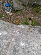 Rock Climbing Photo: Looking down Darwin's Dilemma.