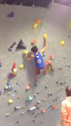 Rock Climbing Photo: Climbing a 5000 point problem, sadly bailed off th...
