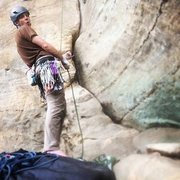 Rock Climbing Photo: at the red