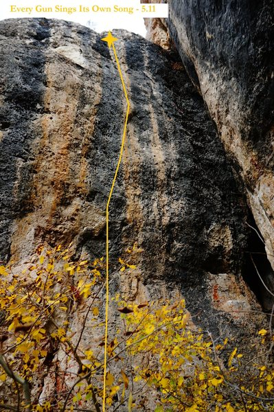 Rock Climbing Photo: Every Gun Sings Its Own Song (September 2014)
