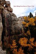 Rock Climbing Photo: Don't Bring Your Guns to Town (September 2014)