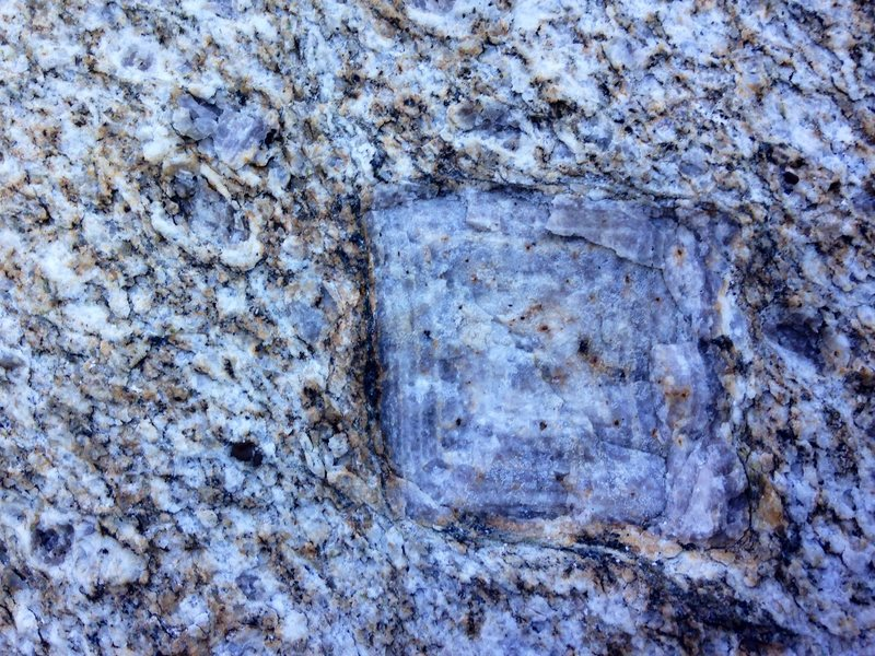 Rock Climbing Photo: Cool feldspar crystal at the start of Mr. Norman's...