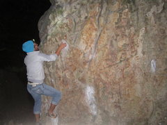 Rock Climbing Photo: Solo night session on The Cube