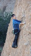 "Rock Climbing Photo: Tony moving up ""Heart & Sole,"" on the He..."