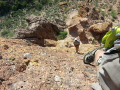 Rock Climbing Photo: We climbed Lorazepam with a 60 and where Ryan is b...