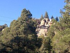Rock Climbing Photo:  Tanglewood Slabs from 3N16, Big Bear North