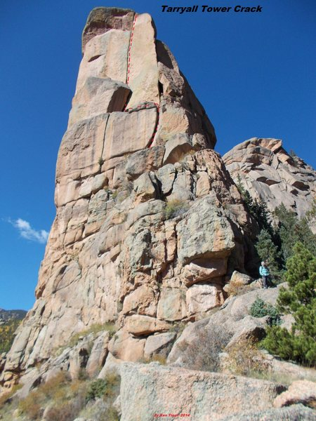 Rock Climbing Photo: Tarryall Tower Crack.