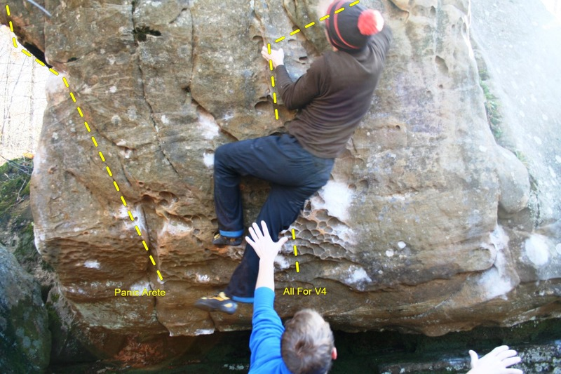 Rock Climbing Photo: Levi on All For V4 - see other picture for descrip...