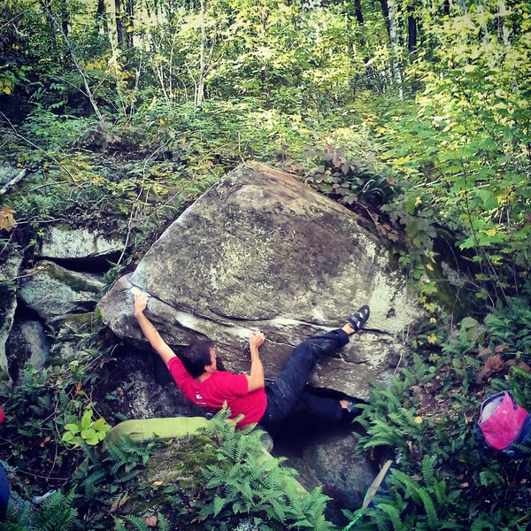 Love the start of this problem, crux is turning the corner.