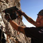 Rock Climbing Photo: Stoked Volunteer