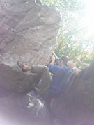 Rock Climbing Photo: Bad photo but this gives a good look at the first ...