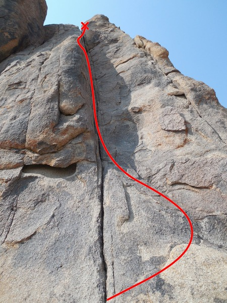 Rock Climbing Photo: Jackie's Rack 5.6 Route