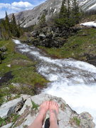 Rock Climbing Photo: Waterfall!