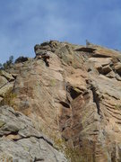 "Rock Climbing Photo: Nearing the top out on ""Ride My See Saw""..."
