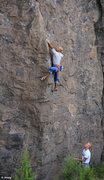 Rock Climbing Photo: Mike Phalen hooks the crux on A Thousand Yards of ...
