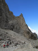 Rock Climbing Photo: Dito di Dio is the sharp spire at the right end of...