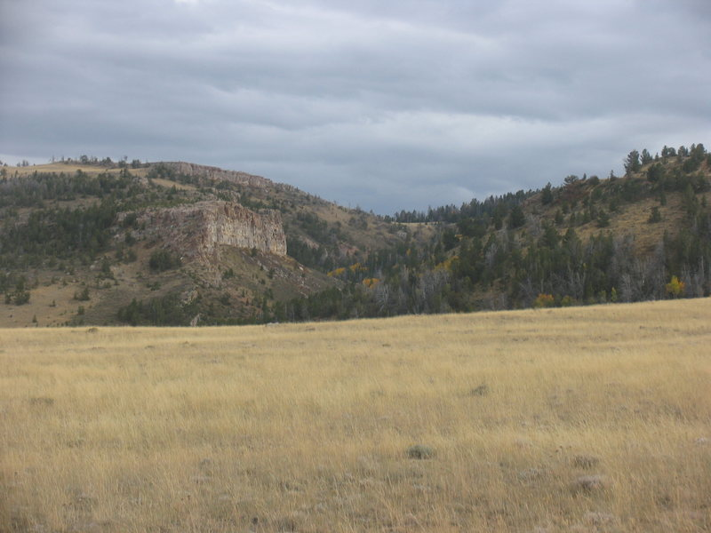 Cliffs Beyond Difficulty seen from BLM Road 3115
