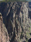 Rock Climbing Photo: The route goes up the canyon side of the Comic But...