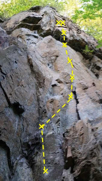 Rock Climbing Photo: Route to the right of Broken Bit.