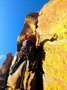 Rock Climbing Photo: Duncan on P.1 Naked Edge