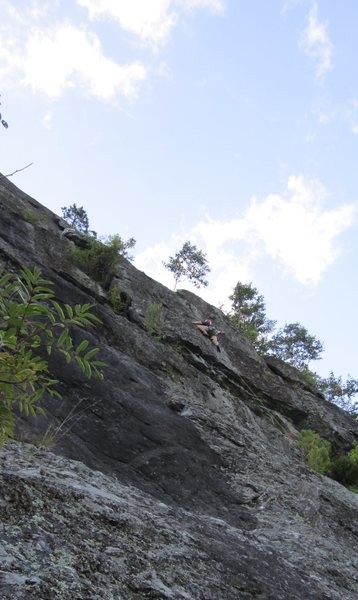 Rock Climbing Photo: Above the crux overhang on Peregrination