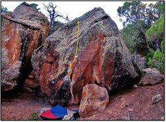 Rock Climbing Photo: Frida Defends the Fear problem beta.