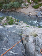 Rock Climbing Photo: Kevin Yin at the start, seen from the first belay....