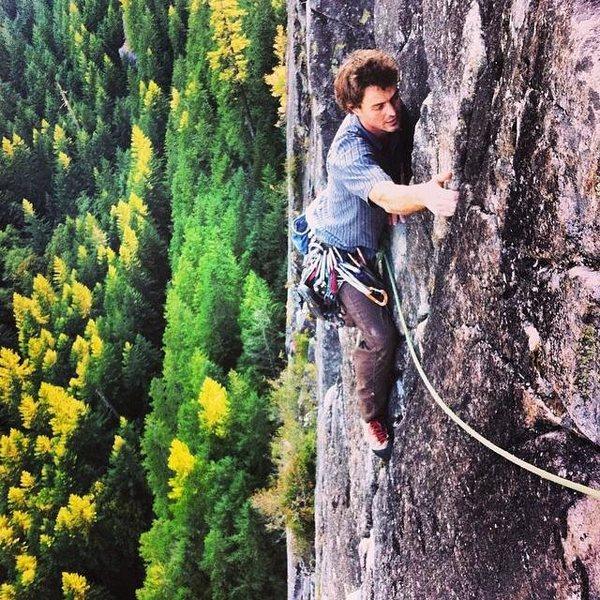 Rock Climbing Photo: Near the top