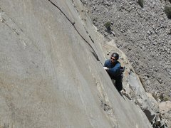 Rock Climbing Photo: My good friend enjoying pitch three..