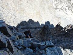 Rock Climbing Photo: My good friend keith high on SRA.