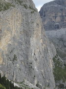 Rock Climbing Photo: Piz Ciavazes detail; this is the area of Kleiner M...