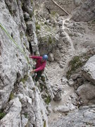 Rock Climbing Photo: Finishing the second pitch of Torre Quarta Bassa; ...