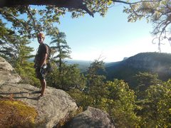 Rock Climbing Photo: In the Trapps before walking off. I think that's T...