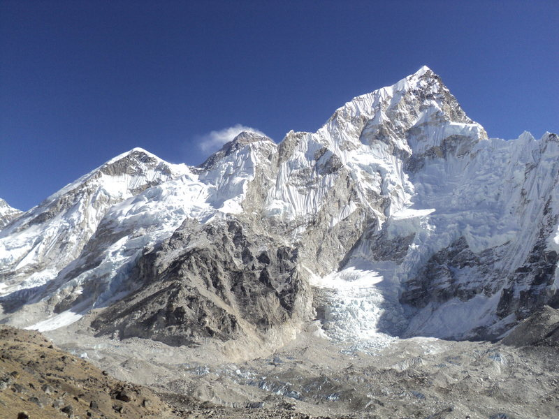 Mount Everest from base Camp