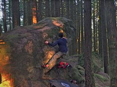 Rock Climbing Photo: Bouldering at Druiden Boulders. Picture taken by R...