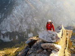Rock Climbing Photo: topping out the South Face. photo by Tim Richards....