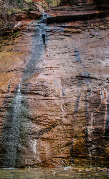 The last rappel of Mystery Canyon, ZNP.