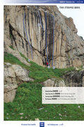 Rock Climbing Photo: The Stripes Wall, accurate September 2014.