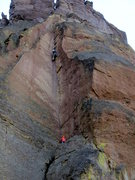 Rock Climbing Photo: Travelling couple that got up a little earlier tha...