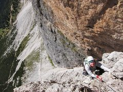 Rock Climbing Photo: Nearing the top of the 10th pitch on a sunny and c...