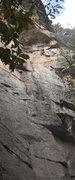 Rock Climbing Photo: Combining the first two pitches also works. (Belay...