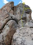 Rock Climbing Photo: Blue Bayou (5.7), Holcomb Valley Pinnacles