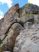 Rock Climbing Photo: French Quartered (5.7), Holcomb Valley Pinnacles