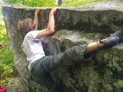 Rock Climbing Photo: heel hook leftover after bump