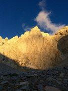 Rock Climbing Photo: The East Face of Mt Barnard's East Peak