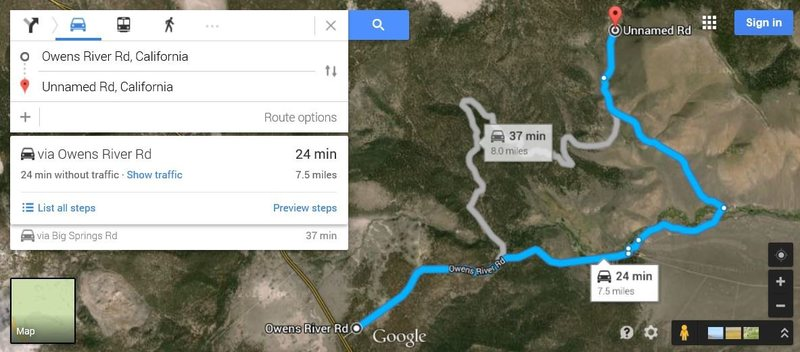 alternate? <br> directions to Clark Canyon...