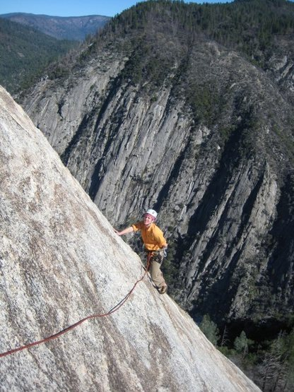 Climber on Bald Rock Dome. (Paul Bernard photo)